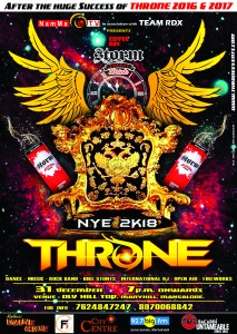 After the huge SUCCESS of THRONE 2016 & THRONE 2017.. Here we Present you... THRONE 2018. DONT miss it this YEAR !!! MUSIC - DANCE - ROCK BAND - INTERNATIONAL DJ - FIREWORKS - ROCK BAND - FUN - MAXimum ENTERtainment. For Bookings : 7624847247