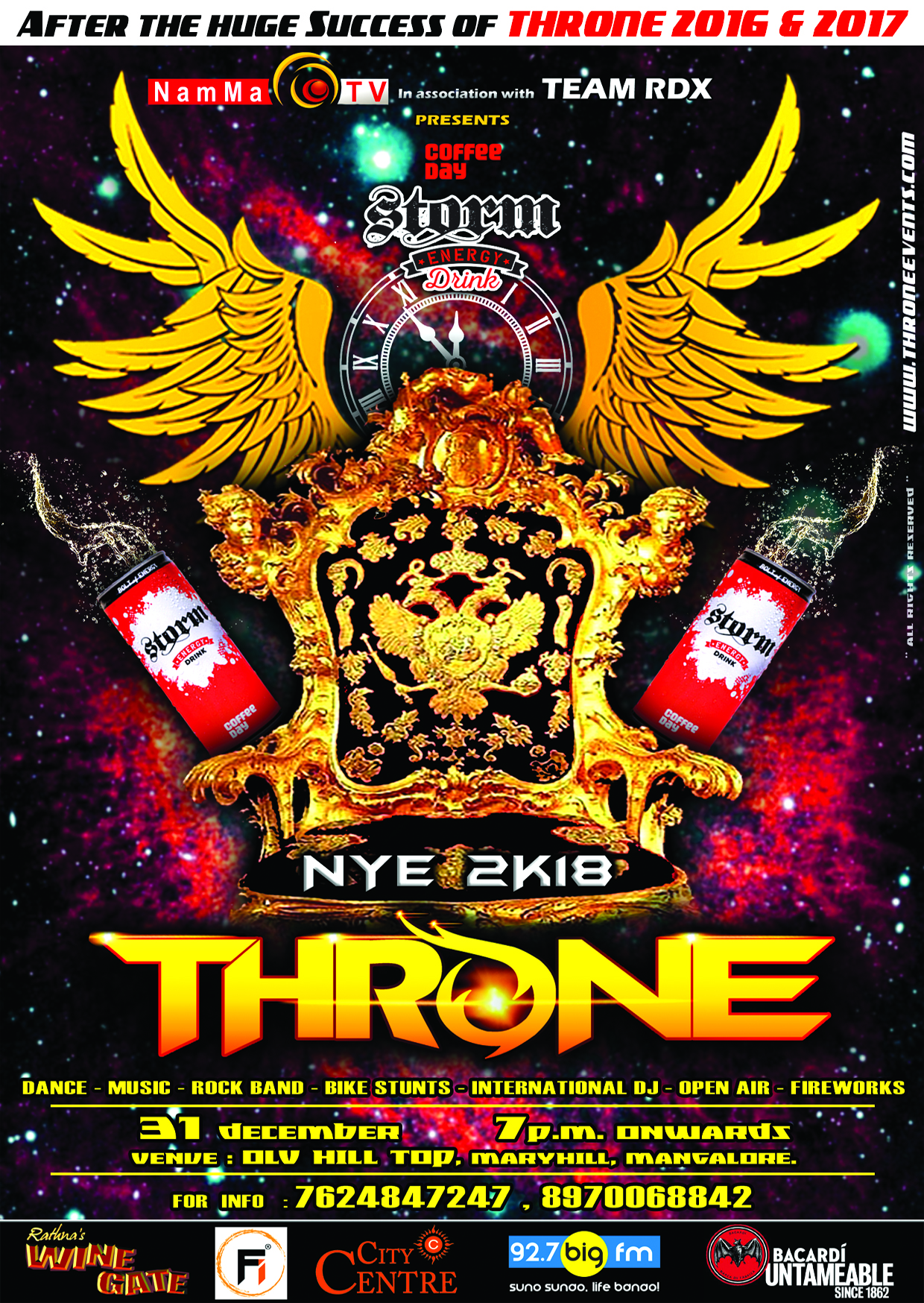 NEW YEAR PARTY 2018 - THRONE