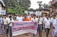 Sullia: Protest against river diversion by Bellare residents