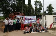 Surathkal: Suspension without notice; UB contract workers go for indefinite sit in protest