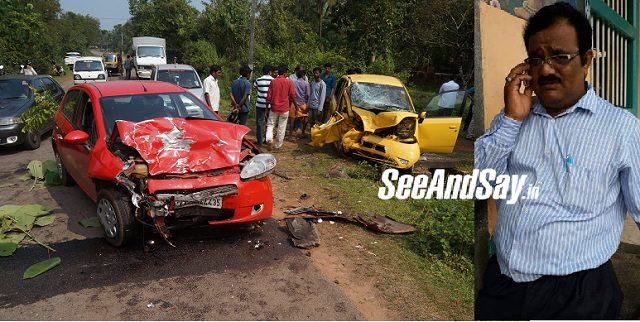 Karkala Businessman Dies In Car Accident In Nallur