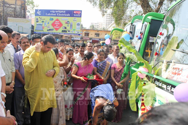 Pramodh Madhwaraj flags off KSRTC-12