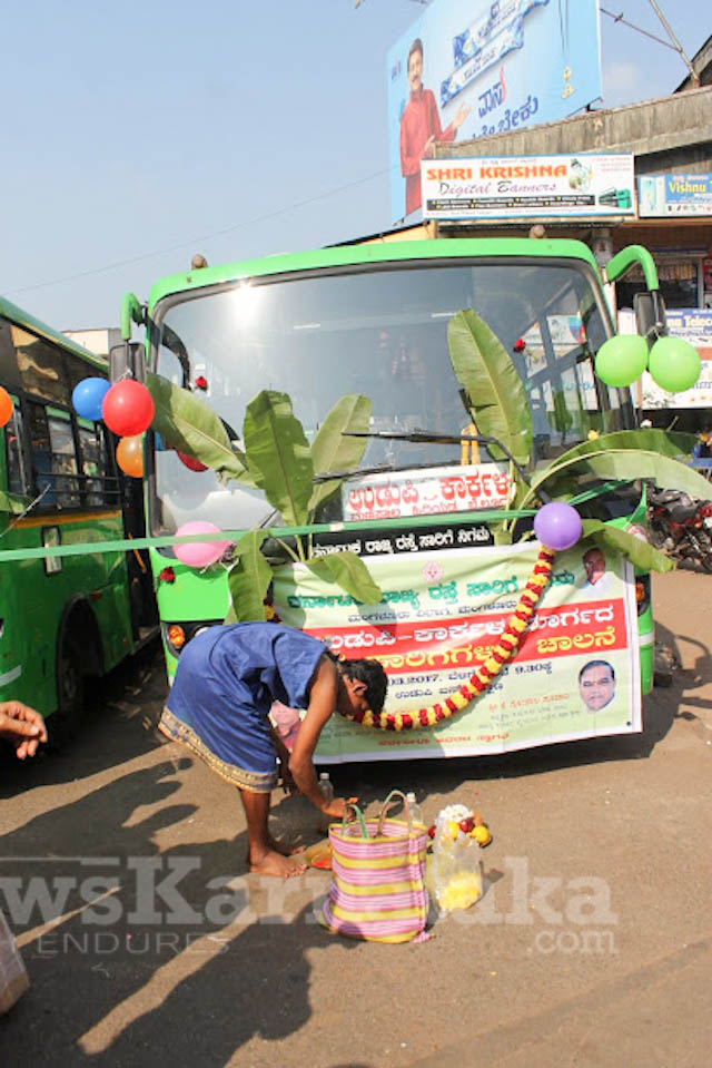 Pramodh Madhwaraj flags off KSRTC-2