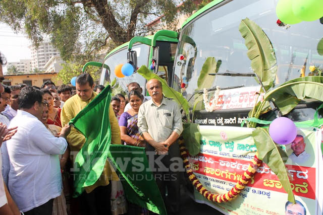 Pramodh Madhwaraj flags off KSRTC-20
