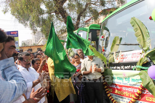 Pramodh Madhwaraj flags off KSRTC-21