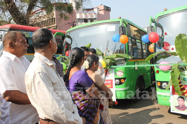 Pramodh Madhwaraj flags off KSRTC-3