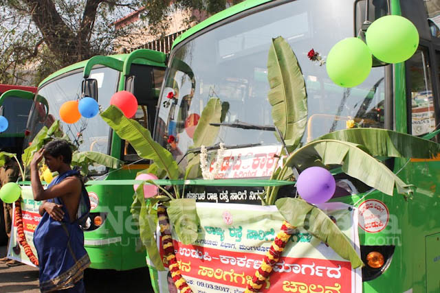 Pramodh Madhwaraj flags off KSRTC-6