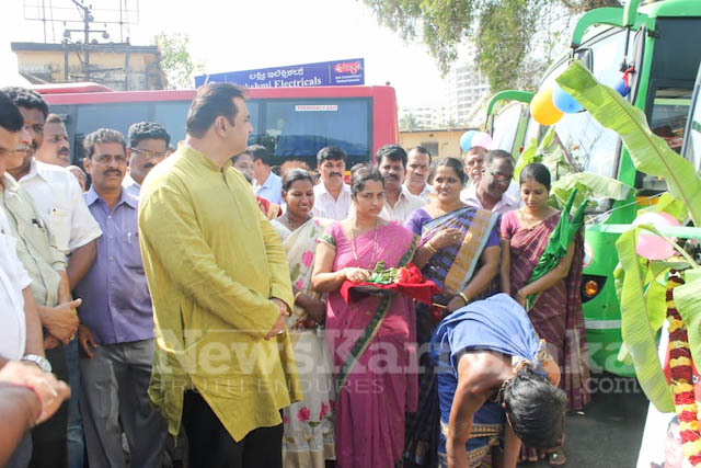 Pramodh Madhwaraj flags off KSRTC-9