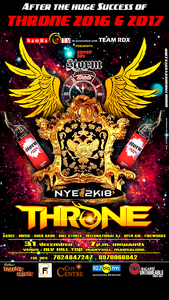 NEW YEAR PARTY in MANGALORE - THRONE 2018